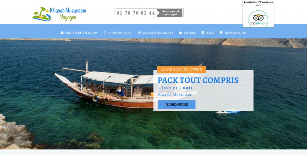 Site réservation d'excursions