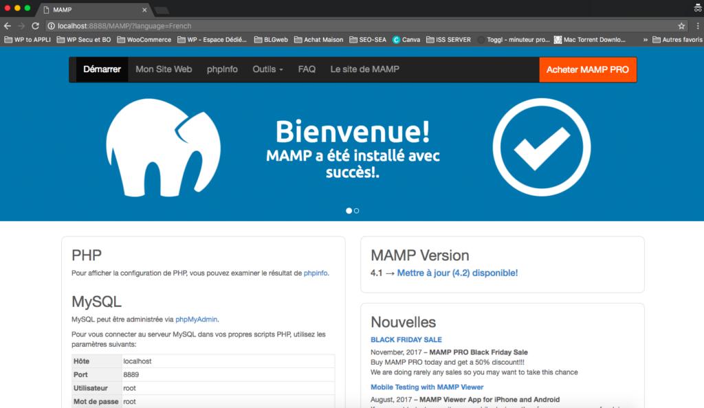 Interface MAMP