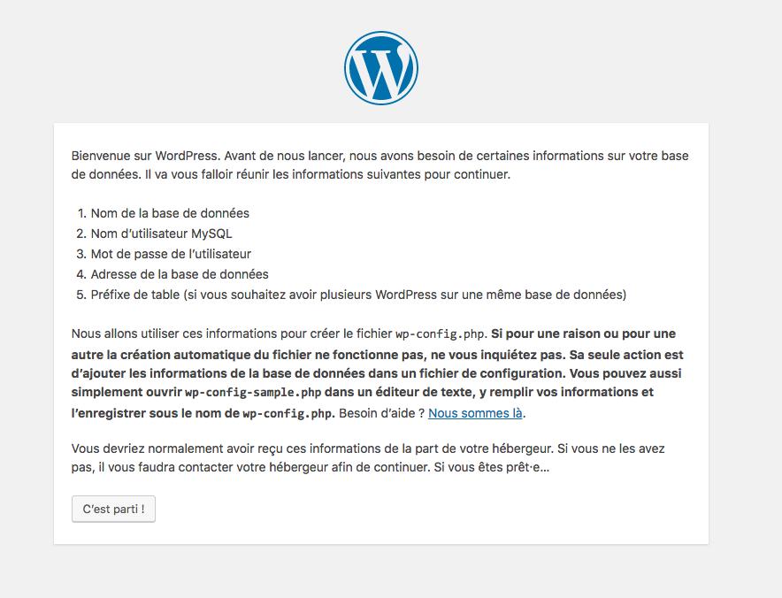 Installation WordPress en local
