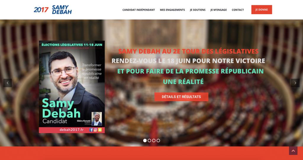 Site candidat aux législatives