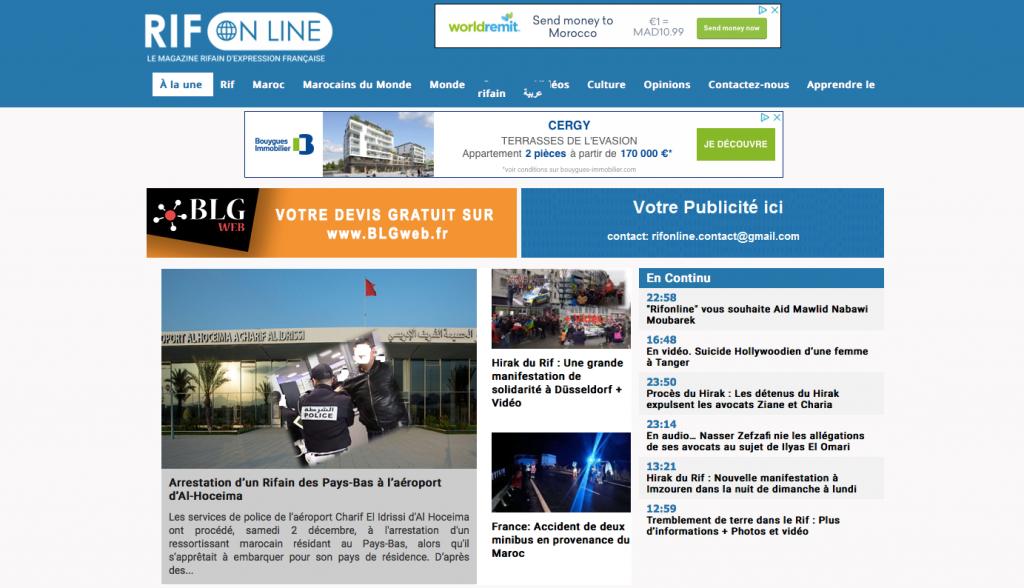 Site d'infos en ligne